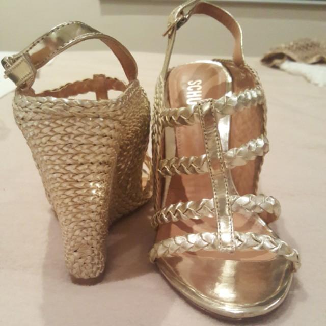 🔥🎄Golden sandal schurtz platform