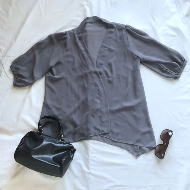 Gray Shiffon Outer