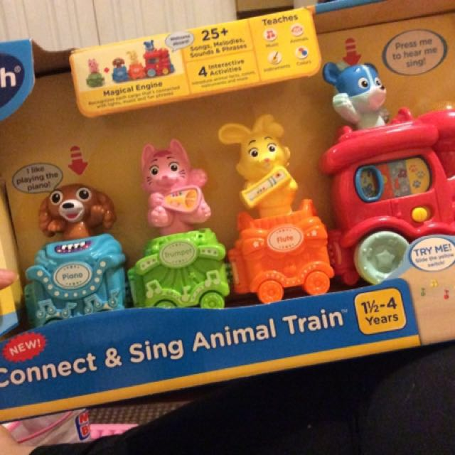 GREAT XMAS GIFT Connect And Sing Animal Train