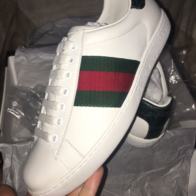 Gucci Ace Leather Sneakers - Top Quality Grade