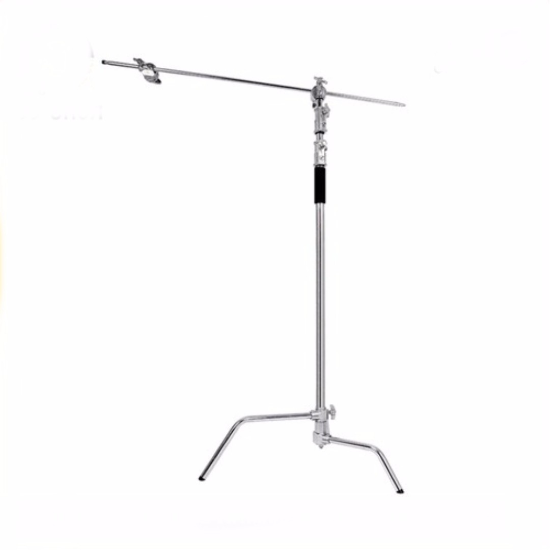 """Heavy Duty Double Riser Detachable Turtle Base C-Stand C Stand Century Stand with 50"""" Boom Arm"""