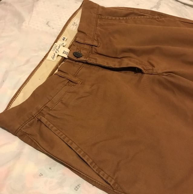 H&M Brown Slim Fit Chinos Size 30