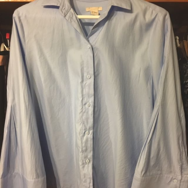 H&M wide cuff shirt