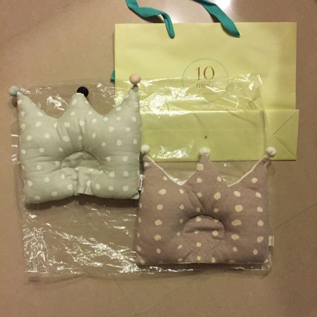 Hoppetta 王冠凹型枕 嬰兒用 日本 2個