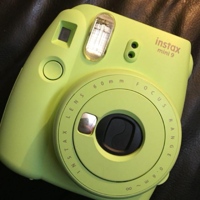 Instax Mini 9 Lime Green Polaroid Camera