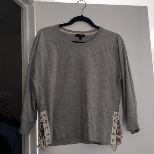 JCrew Lace-up Sweatshirt