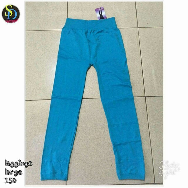 Large Blue Leggings