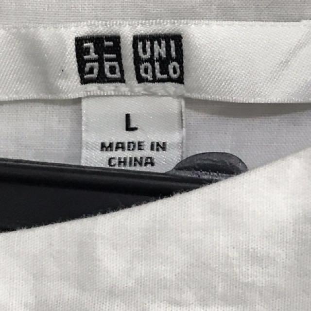 Large White Dress - Uniqlo