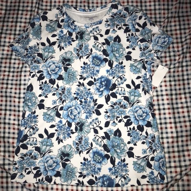 Laura Scott from Sears Floral Shirt BNWT
