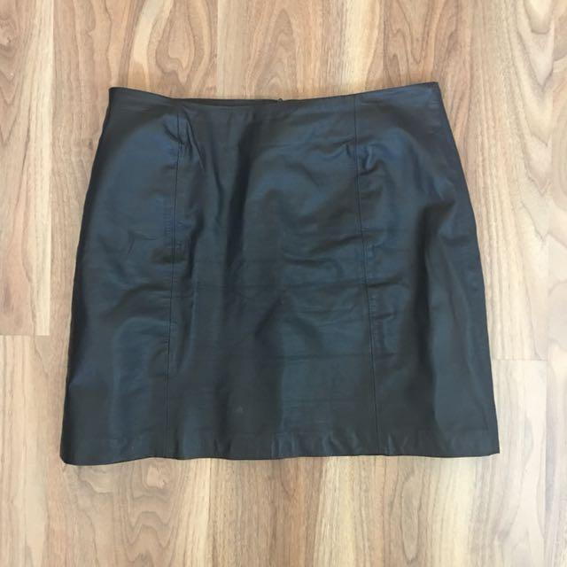 Leather skirt vintage M