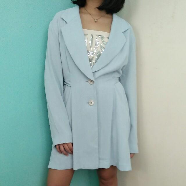 Light blue long blazer