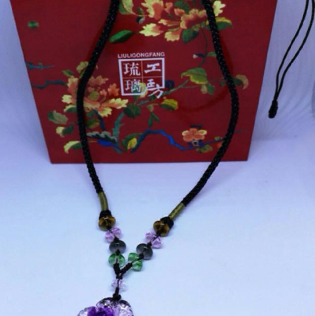 LiuLiGongFang artistic glassware jewellery