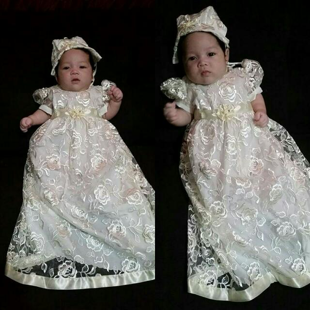 Long Lace Gown for Christening