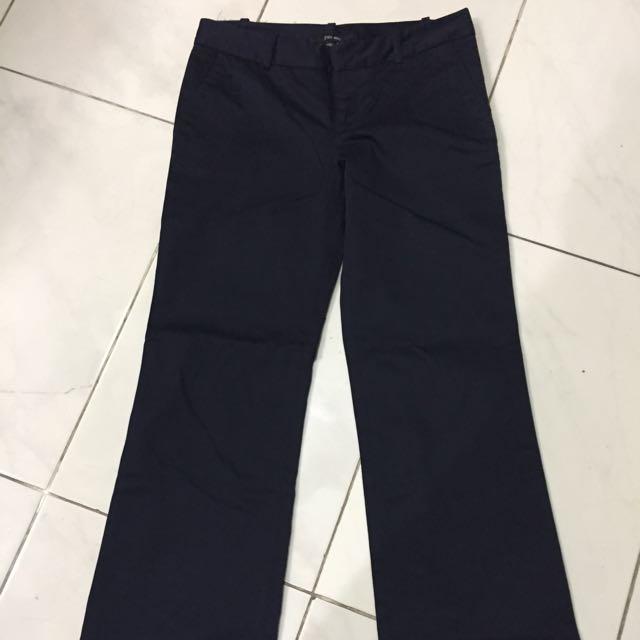 Long Pants Dark Blue Zara