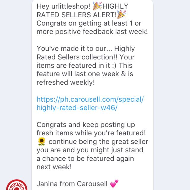 made it to the highly rated sellers 2nd time