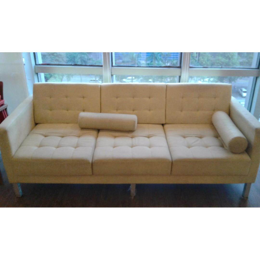 Mandaue Foam Yellow Long Sofa Home Amp Furniture On Carousell