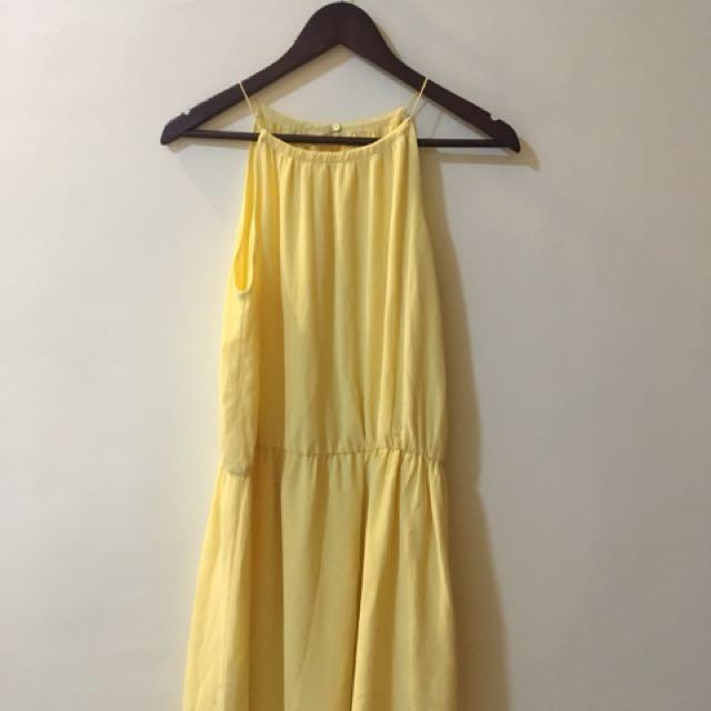 MANGO Yellow Dress