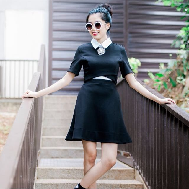 Megagamie Black Dress