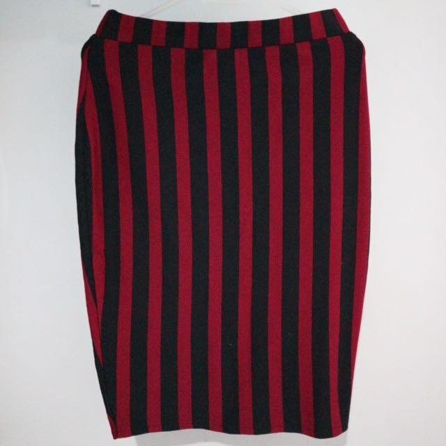 Mermaid Skirt (Black & Red)