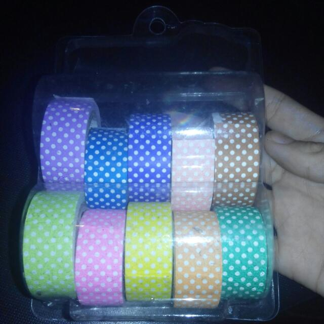 Miniso Polka Dotted Paper tapes
