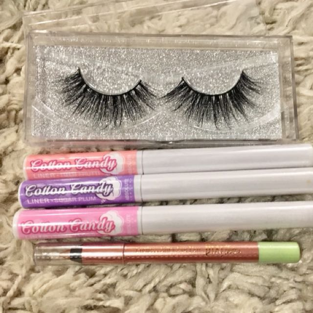 Mink lashes & Cotton Candy Liners