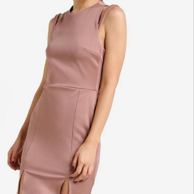 Miss Selfridge Strappy Pink Nude Dress