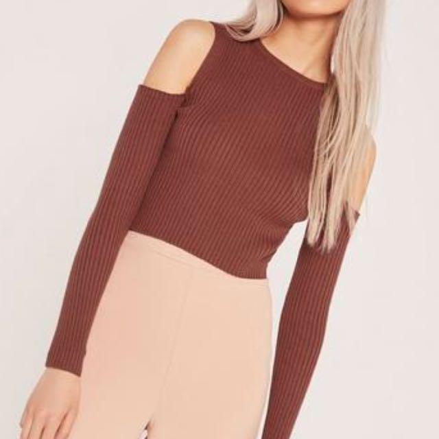 Missguided cold shoulder knit top