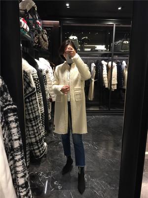 專柜代購Moncler17秋冬女士氣質假兩件棒球領毛呢外套SAINTE