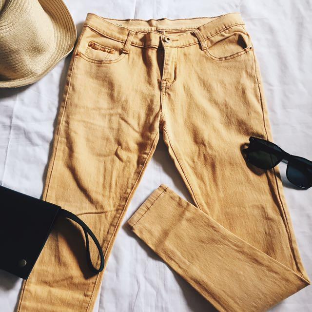 ✨Mustard Skinny/Stretchable Pants