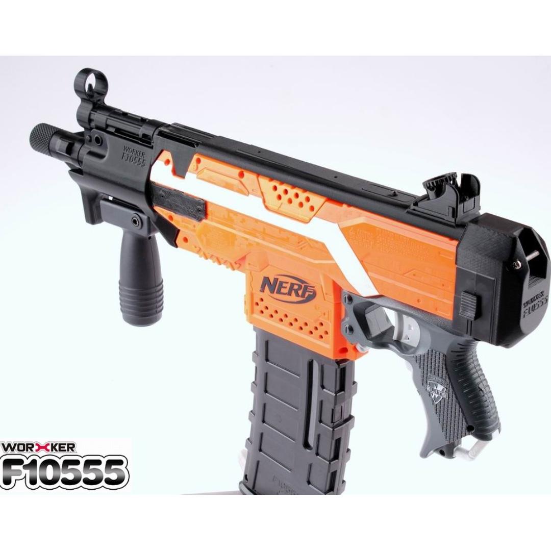 NERF MP5K Worker Kit(114) for Stryfe, Toys & Games, Bricks & Figurines on  Carousell