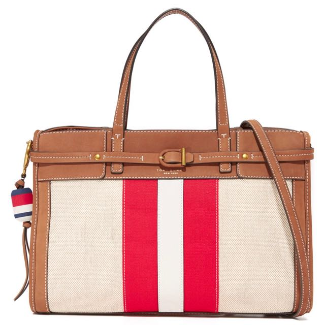🌲🚚New Tory Burch Suede/Canvas Satchel FREE SHIPPING