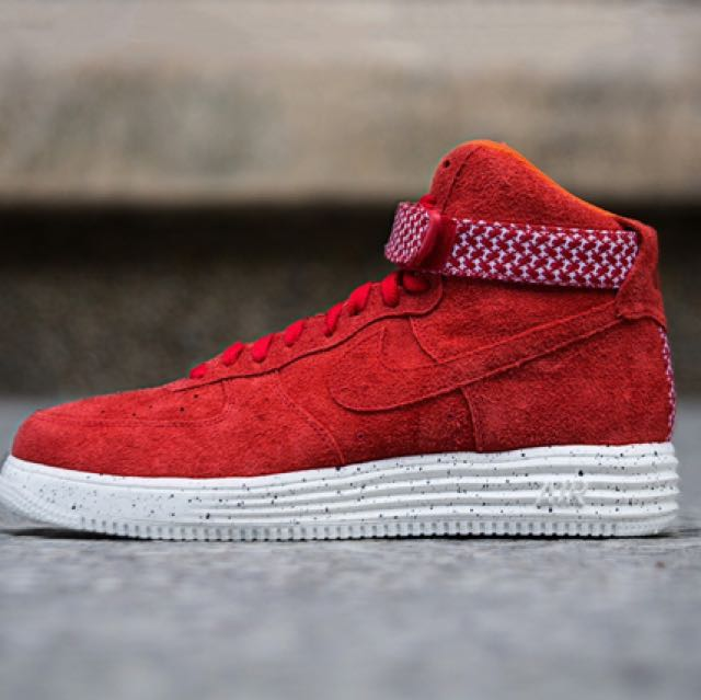 new concept 7ed91 de9e2 Nike x Undefeated - Air Force Lunar Force 1 High SP (University Red ...