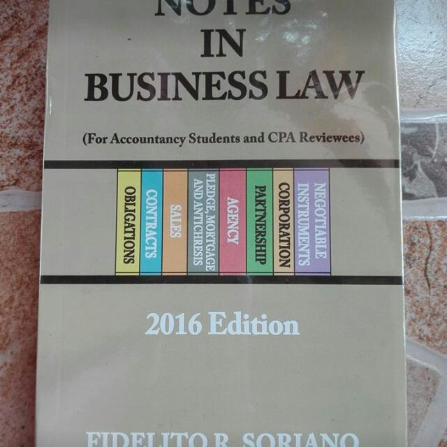 Notes In Business Laws