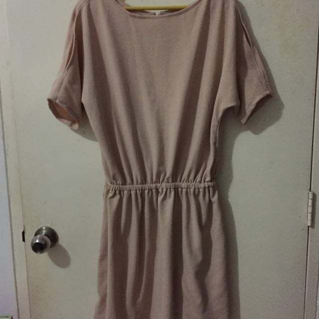 Nude color dress (free size fits up to large frames)