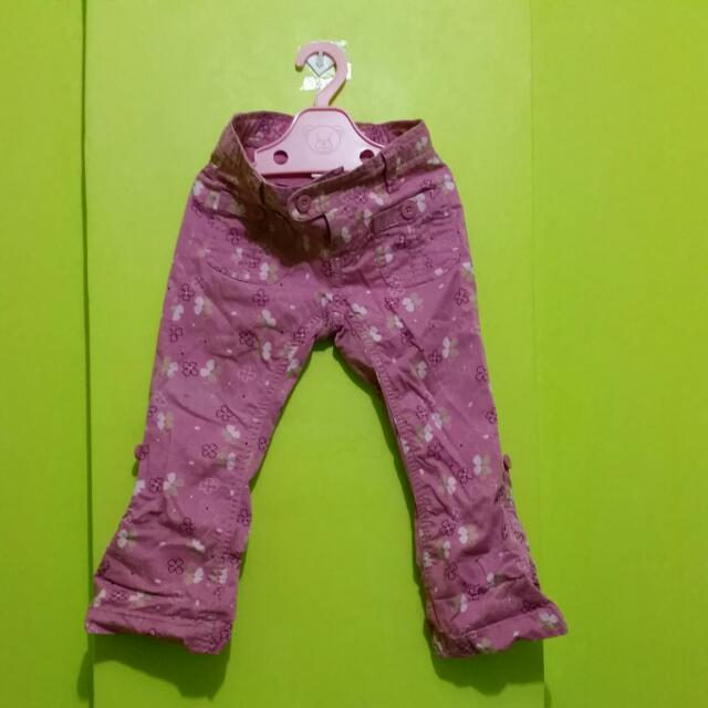 Old Navy Floral Pink Pants Stretchable