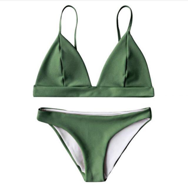 e481756a3e99c Olive Green Bikini Set, Women's Fashion, Clothes, Others on Carousell