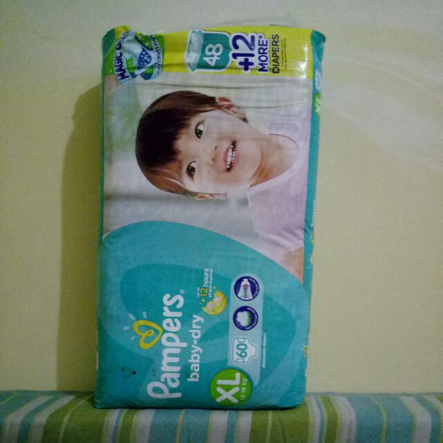 Pampers baby dry xl 60pcs