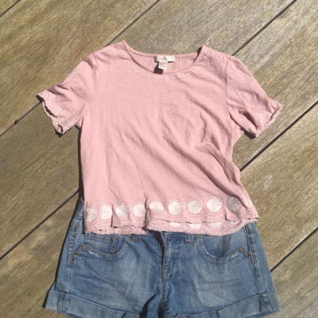 Pastel Pink Tee Shirt