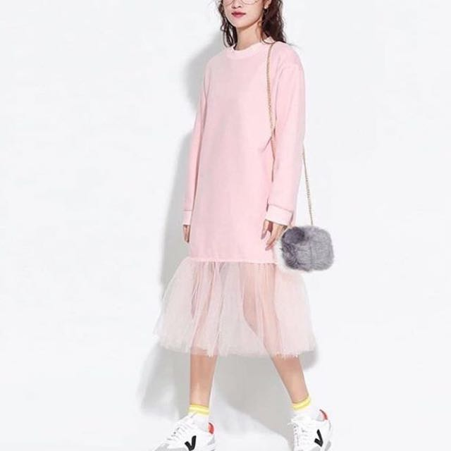 PINK flare dress