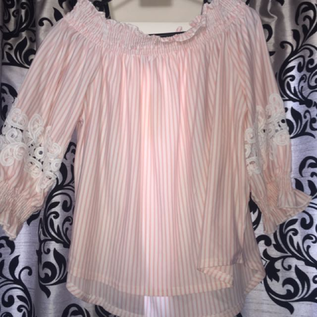 Pinky peachy doll top