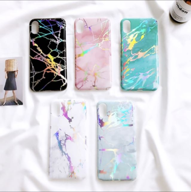 quite nice b502a 75bb3 ***PREORDER*** marble holographic phone case