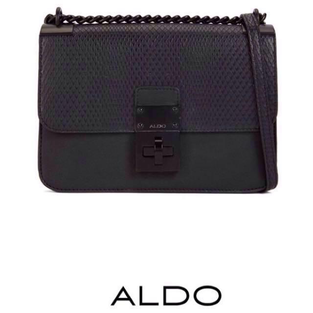33443c2aafc 🌟PRE-ORDER SALE! ALDO SNAKE EMBOSSED CROSSBODY BAG (BLACK)