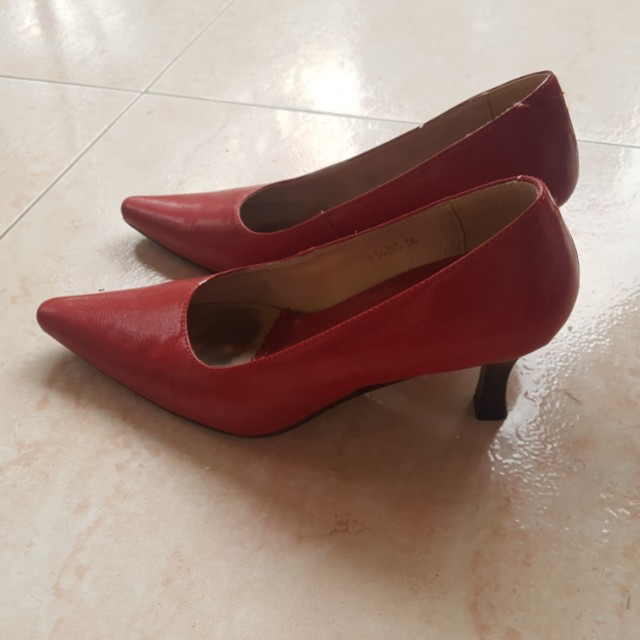 Red Classic Heels