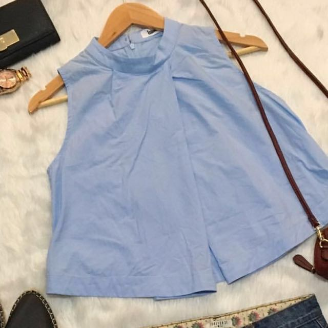 REPRICED!!! Blue layered top (Small)