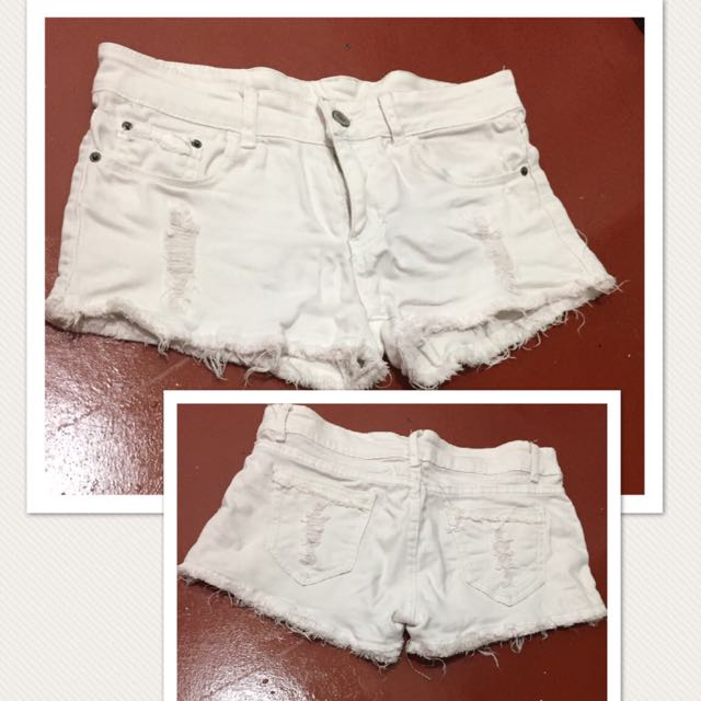 Ripped White short