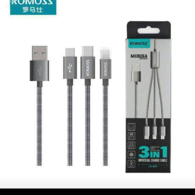 romoss 3 pin charger