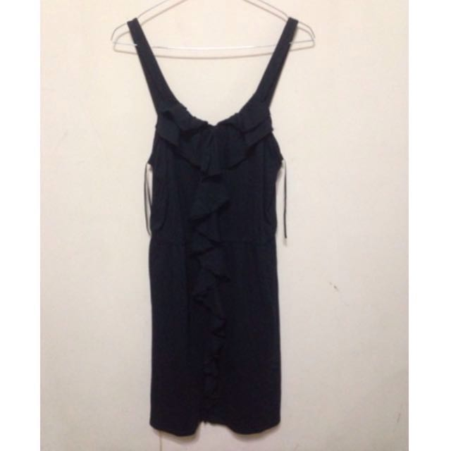 (SALE) BLACK RUFFLE DRESS