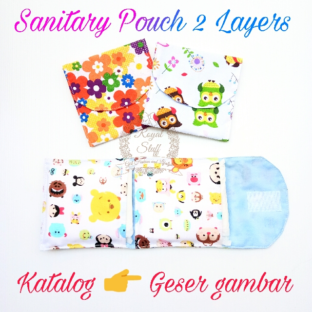 Sanitary pad, sanitary pouch, sanitary pocket, tempat pembalut