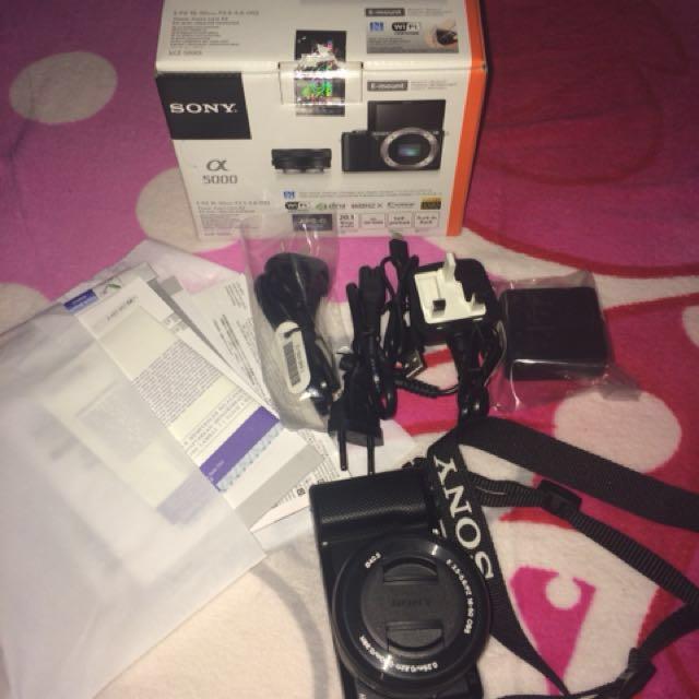 Second Rasa Ori Kamera Mirrorless Sony A5000 Baru Beli 18okt2017