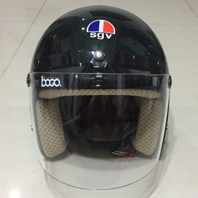 140422fd Sgv Jipang Helmet (Clear Visor), Motorbikes, Motorbike Apparel on ...
